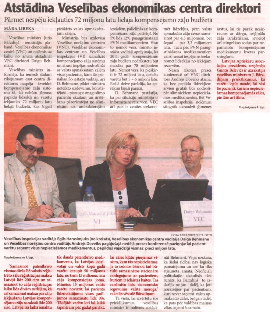 Latvijas avīze, 06.07.2011.