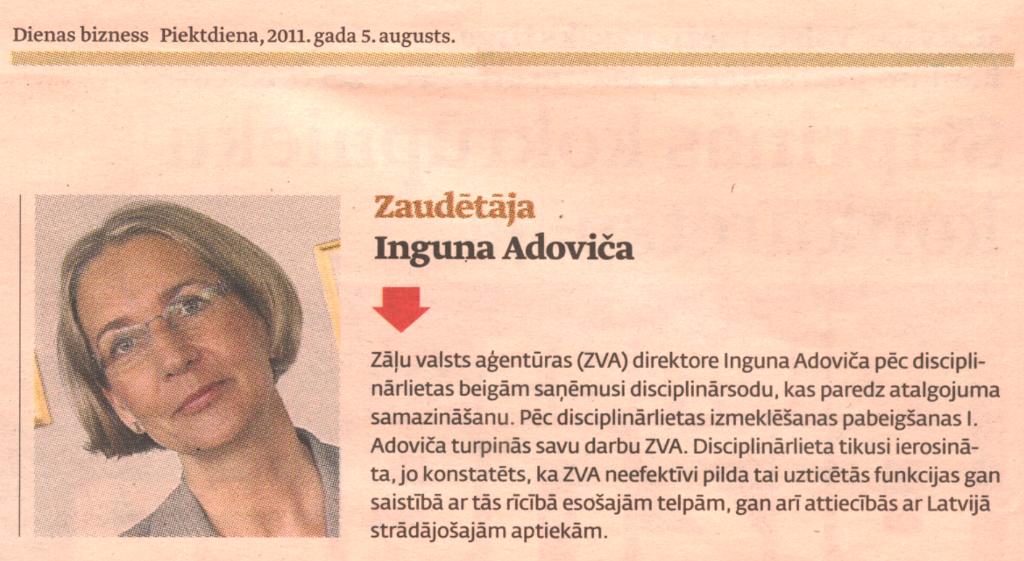 Dienas bizness, 5.08.2011.