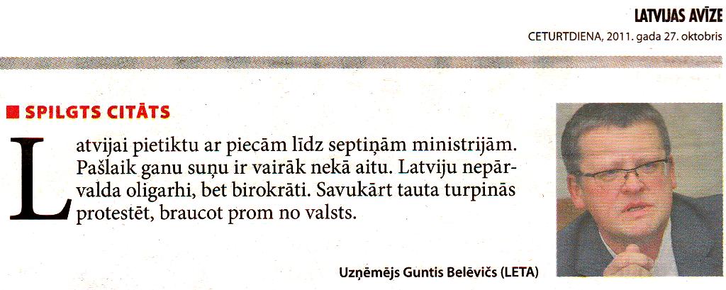 Latvijas avīze, 27.10.2011.