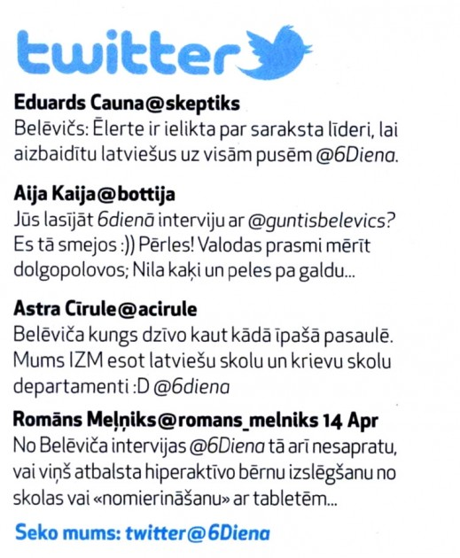 Diena (Sestdiena), 19.04.2013