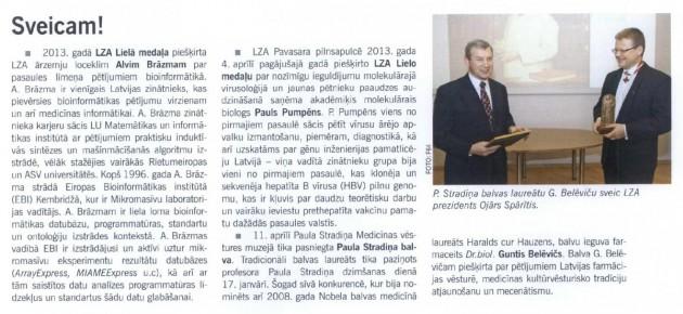 Latvijas Ārsts, 02.05.2013